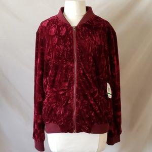 Kensie Burgundy Velvet Jacket